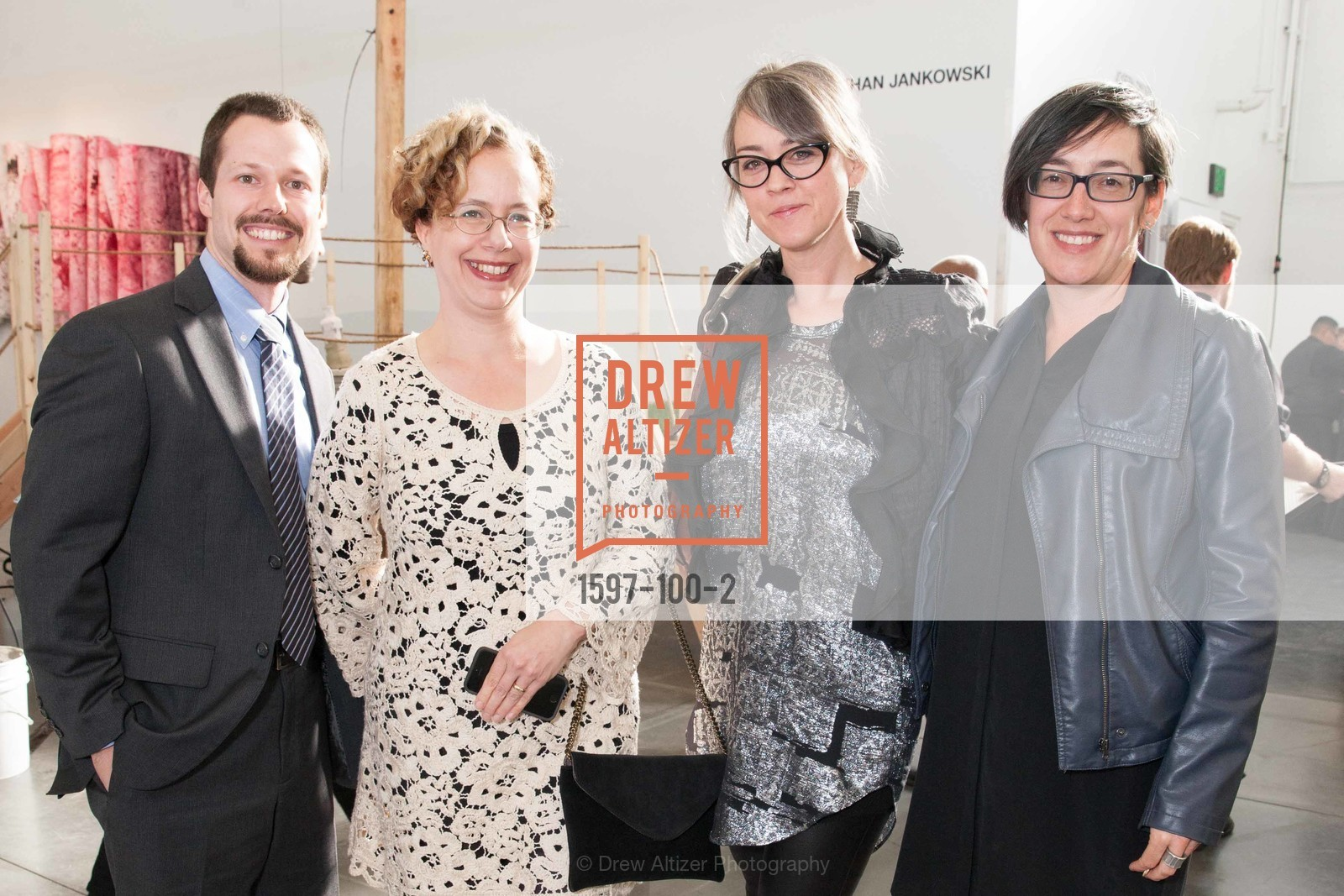 Anthony Molinar, Rachel Schreiber, Jennifer Rissler, Megan Sacks, Gala Vernissage & Varnished The After Party Presented by SFAI, Fort Mason. Pier 2, May 14th, 2015,Drew Altizer, Drew Altizer Photography, full-service agency, private events, San Francisco photographer, photographer california