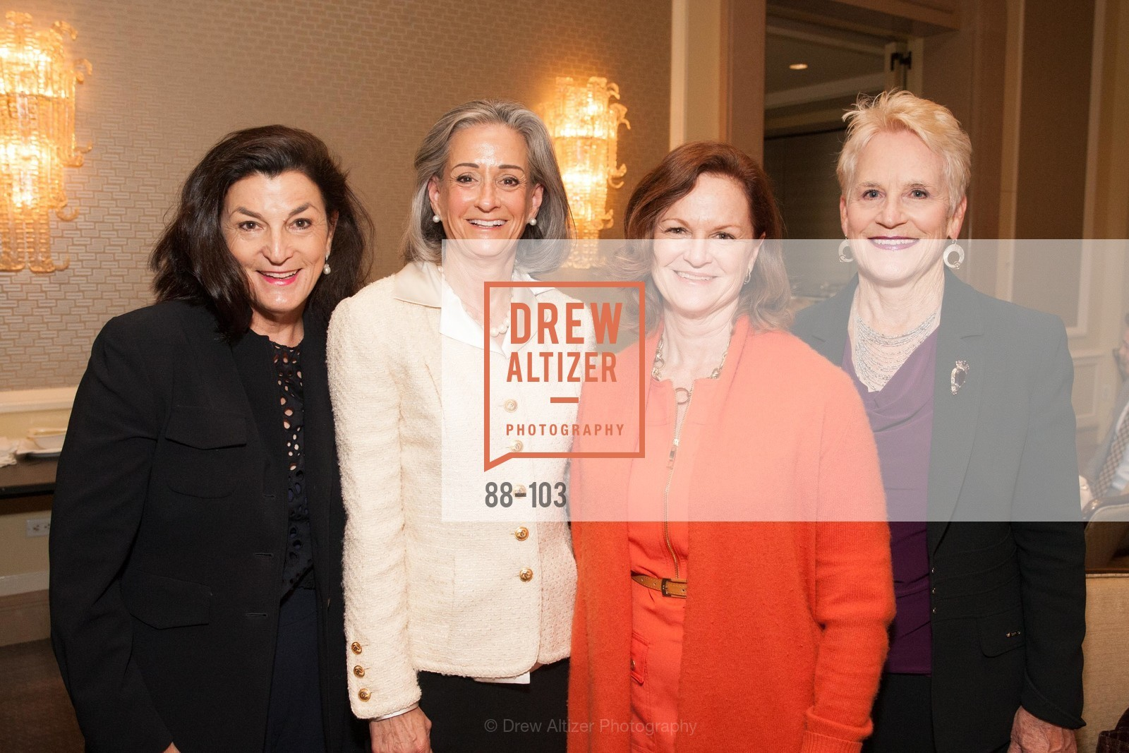 Sheila Kelly, Lisa Seran, Erin Doyle Ebeling, Caitie O'Shea, USF's Women in Leadership & Philanthropy Luncheon, Four Seasons. 757 Market St, San Francisco, CA‎, May 14th, 2015,Drew Altizer, Drew Altizer Photography, full-service agency, private events, San Francisco photographer, photographer california
