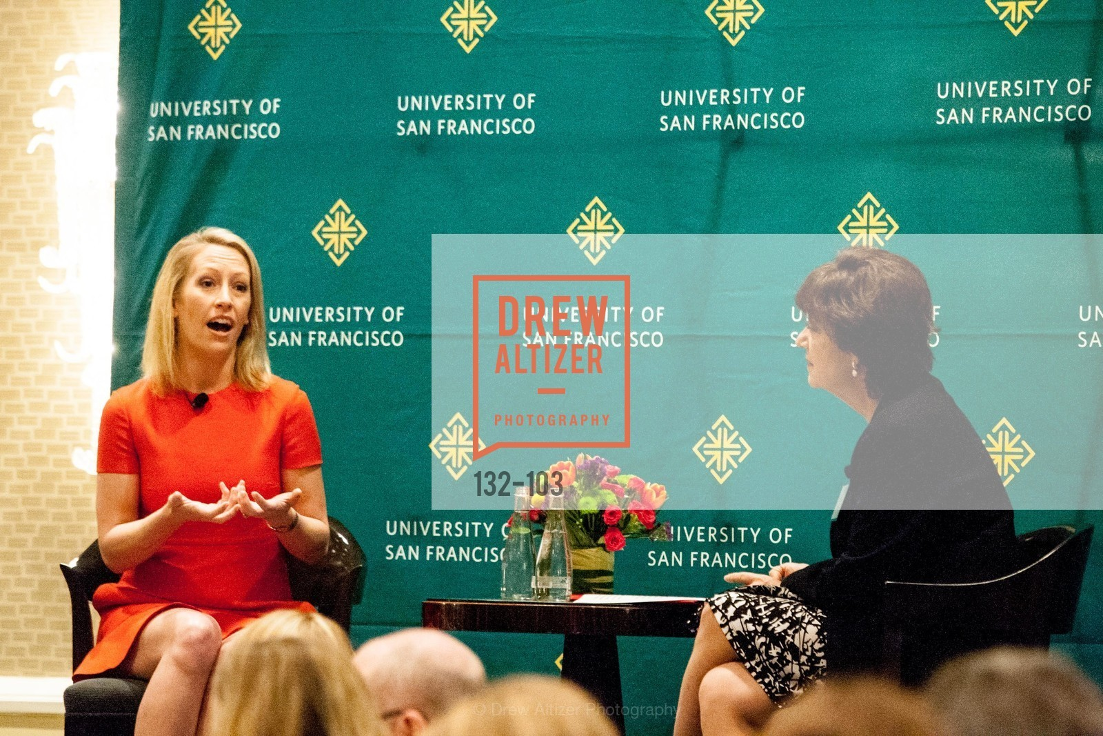 Julia Hartz, Rose Guibault, USF's Women in Leadership & Philanthropy Luncheon, Four Seasons. 757 Market St, San Francisco, CA‎, May 14th, 2015,Drew Altizer, Drew Altizer Photography, full-service agency, private events, San Francisco photographer, photographer california