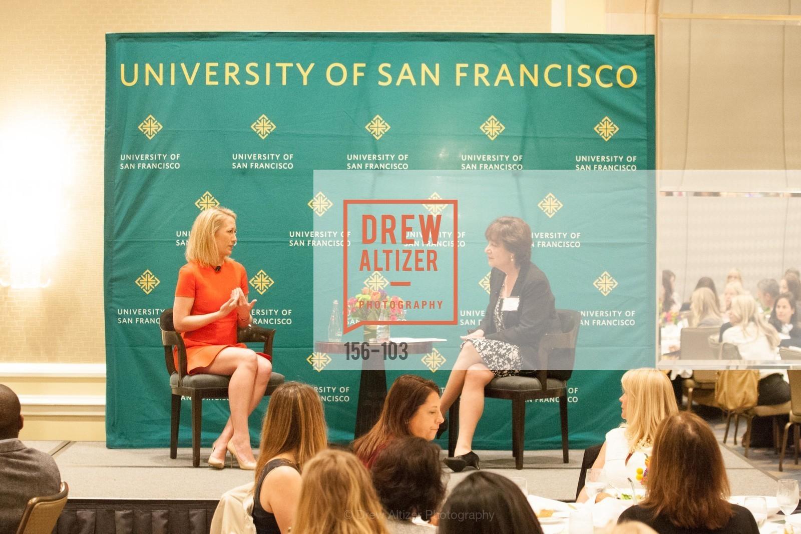 Julia Hartz, Rose Guibault, USF's Women in Leadership & Philanthropy Luncheon, Four Seasons. 757 Market St, San Francisco, CA, May 14th, 2015