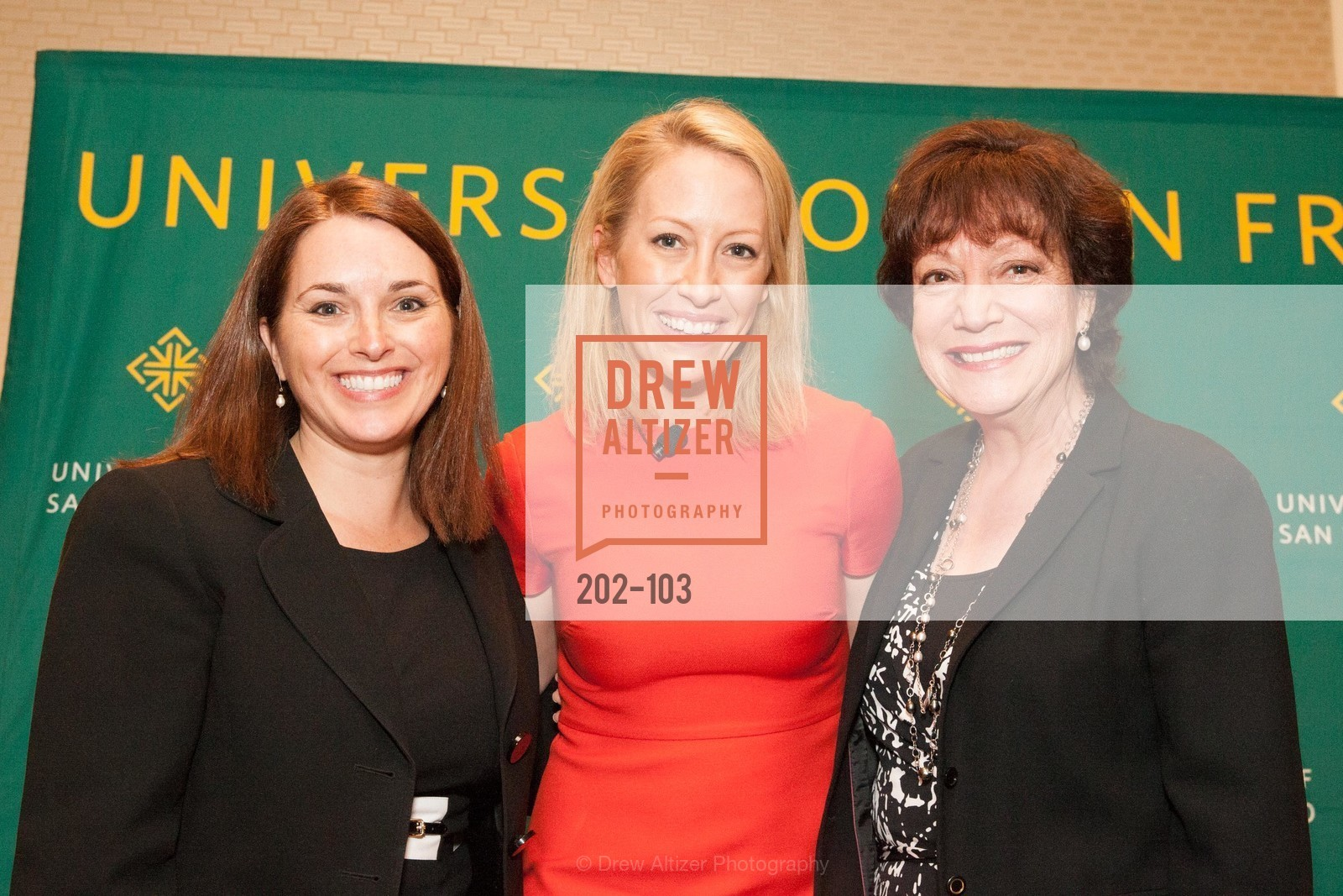 Leslie Theodore, Julia Hartz, Rose Guibault, USF's Women in Leadership & Philanthropy Luncheon, Four Seasons. 757 Market St, San Francisco, CA‎, May 14th, 2015,Drew Altizer, Drew Altizer Photography, full-service agency, private events, San Francisco photographer, photographer california