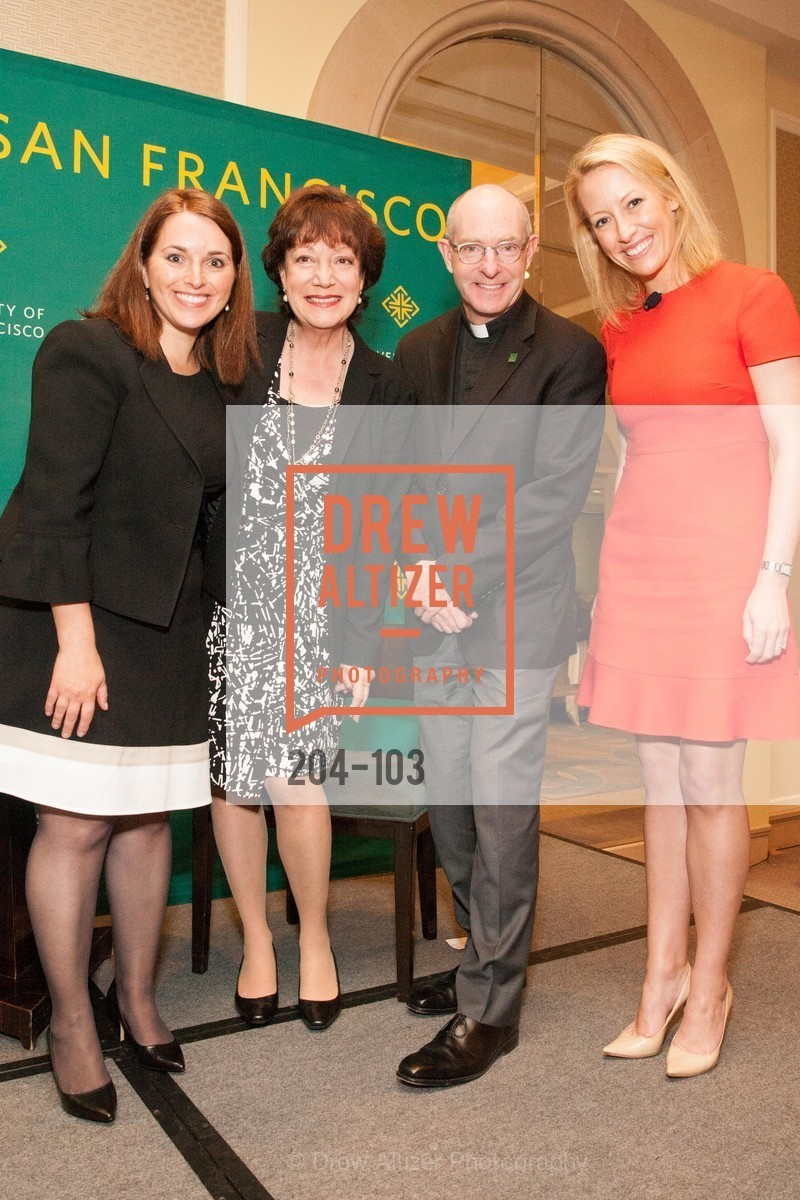 Leslie Theodore, Rose Guibault, Father Paul Fitzgerald, Julia Hartz, USF's Women in Leadership & Philanthropy Luncheon, Four Seasons. 757 Market St, San Francisco, CA‎, May 14th, 2015,Drew Altizer, Drew Altizer Photography, full-service agency, private events, San Francisco photographer, photographer california