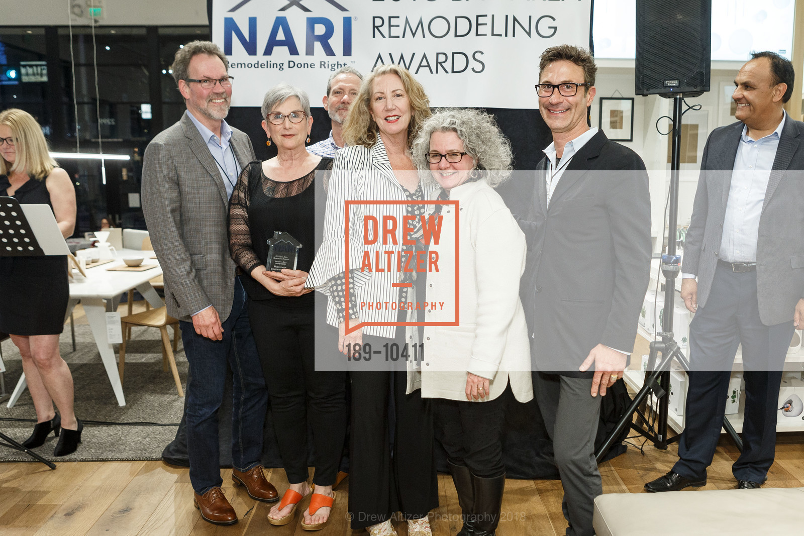 Kit Mott, Gary LaMusga, Christy Jobe, Claire Day, Frank Davii, NARI Bay Area Remodeling Awards, EQ3. 2299 Alameda St, April 11th, 2018