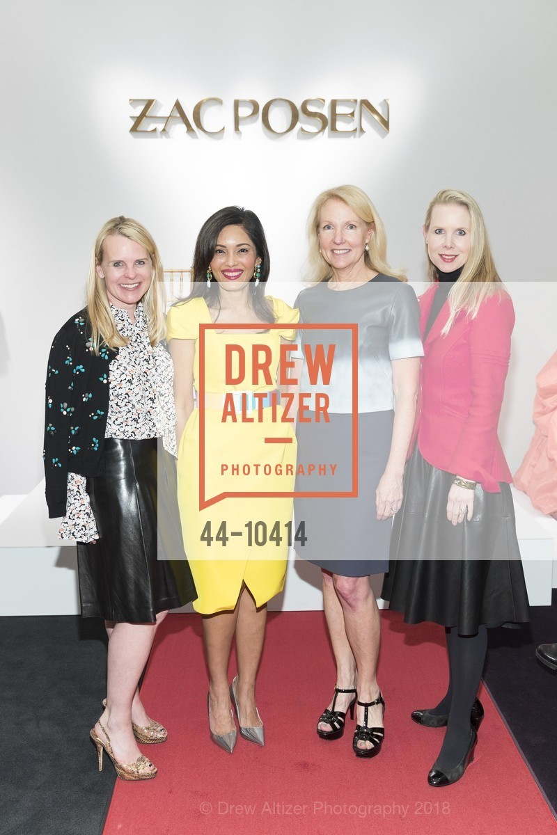 Jane Mudge, Komal Shah, Ann Girard, Shannon Cronan, Neiman Marcus Hosts Zac Posen and Ken Downing Personal Appearance and Fashion Show, Neiman Marcus, 3rd Floor. 150 Stockton Street, April 12th, 2018