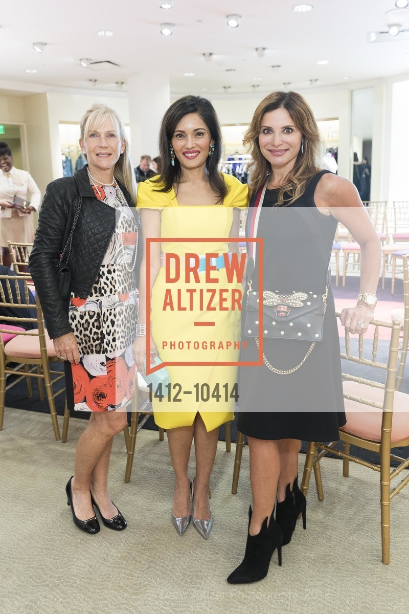 Diane Adams, Komal Shah, Claudia Ross, Neiman Marcus Hosts Zac Posen and Ken Downing Personal Appearance and Fashion Show, Neiman Marcus, 3rd Floor. 150 Stockton Street, April 12th, 2018