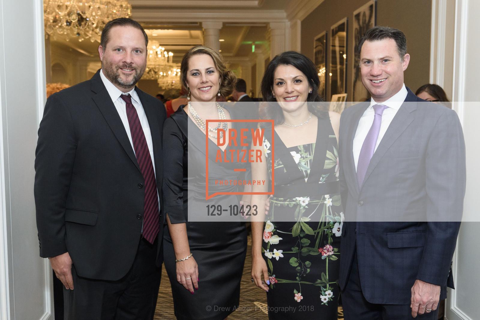 Brian Dew, Angela Dew, Jessica Brillant, David Brillant, Crohn's and Colitis Foundation California Wine Classic 2018, Ritz Carlton Hotel. 600 Stockton Street, April 14th, 2018