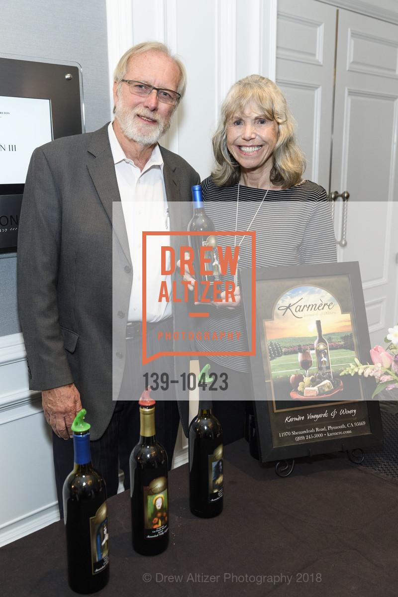 Todd Pickens, Marilyn Hoopes, Crohn's and Colitis Foundation California Wine Classic 2018, Ritz Carlton Hotel. 600 Stockton Street, April 14th, 2018