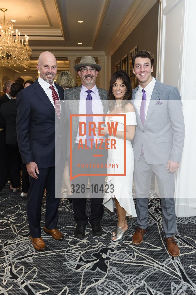 William Longton, Eric Gorovitz, Sarah Streett, Marcus Longton, Crohn's and Colitis Foundation California Wine Classic 2018, Ritz Carlton Hotel. 600 Stockton Street, April 14th, 2018