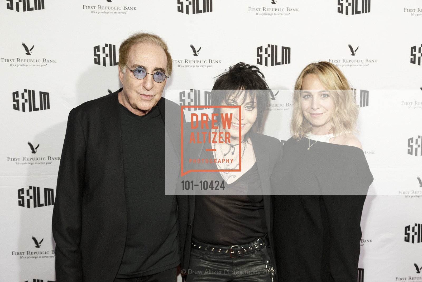 Kenny Laguna, Joan Jett, Carianne Brinkman, SFFILM Festival 2018 Arrivals: Bad Reputation, Castro Theatre. 429 Castro Street, April 14th, 2018