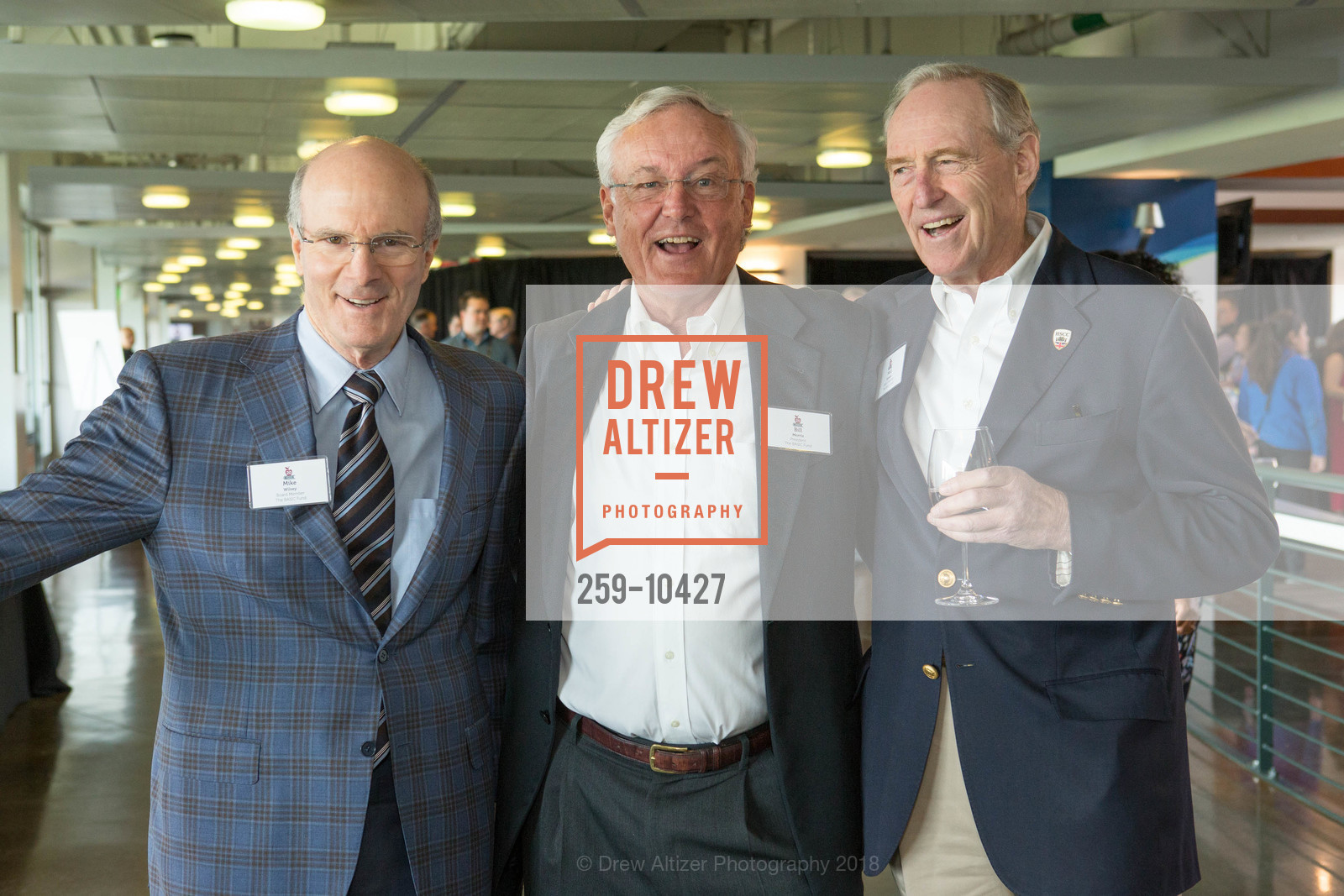 Mike Wilsey, Bill Morris, Ned Spieker, The BASIC Fund 20th Anniversary Celebration, AT&T Park, Club Level, April 12th, 2018