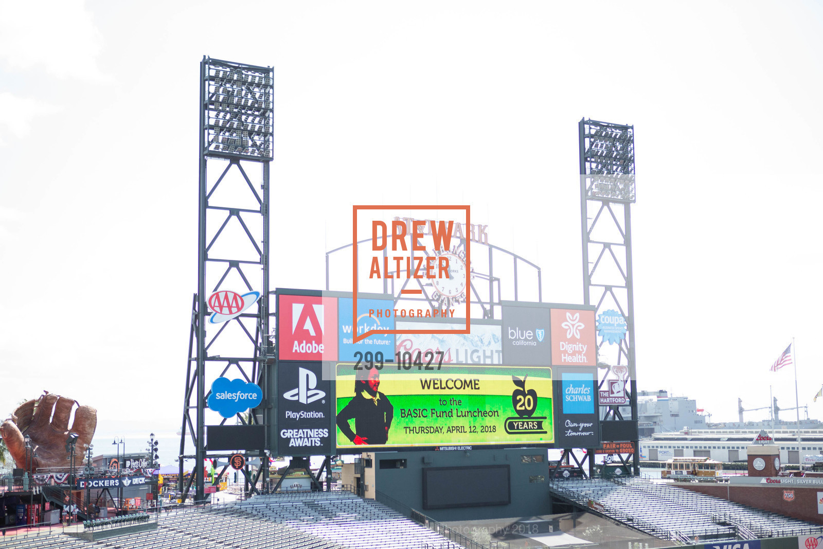 Atmosphere, The BASIC Fund 20th Anniversary Celebration, AT&T Park, Club Level, April 12th, 2018