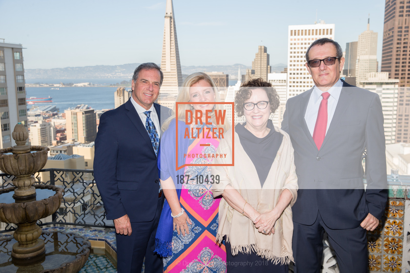John Pappas, Susan Pappas, Cynthia Chiarappa, Carlo Pagula, UCSF Partners in Care Soiree 2018, The Fairmont Nob Hill, April 14th, 2018