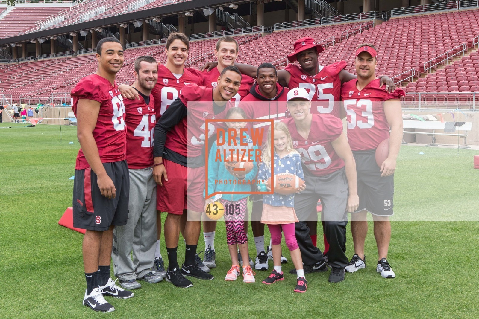 Stanford Football Team, Children's Champions, Stanford Stadium. 	601 Nelson Rd, May 16th, 2015,Drew Altizer, Drew Altizer Photography, full-service agency, private events, San Francisco photographer, photographer california
