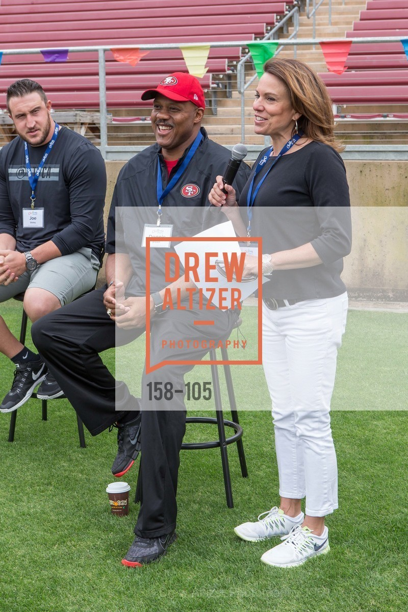 Joe Staley, Dennis Brown, Mindi Bach, Children's Champions, Stanford Stadium. 	601 Nelson Rd, May 16th, 2015,Drew Altizer, Drew Altizer Photography, full-service event agency, private events, San Francisco photographer, photographer California