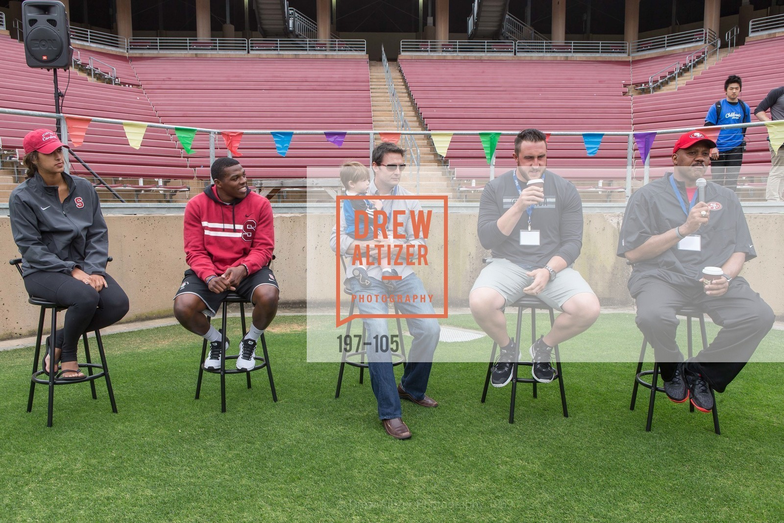 Kailee Johnson, Jordan Richards, Joe Cannon, Joe Staley, Dennis Brown, Children's Champions, Stanford Stadium. 	601 Nelson Rd, May 16th, 2015,Drew Altizer, Drew Altizer Photography, full-service agency, private events, San Francisco photographer, photographer california