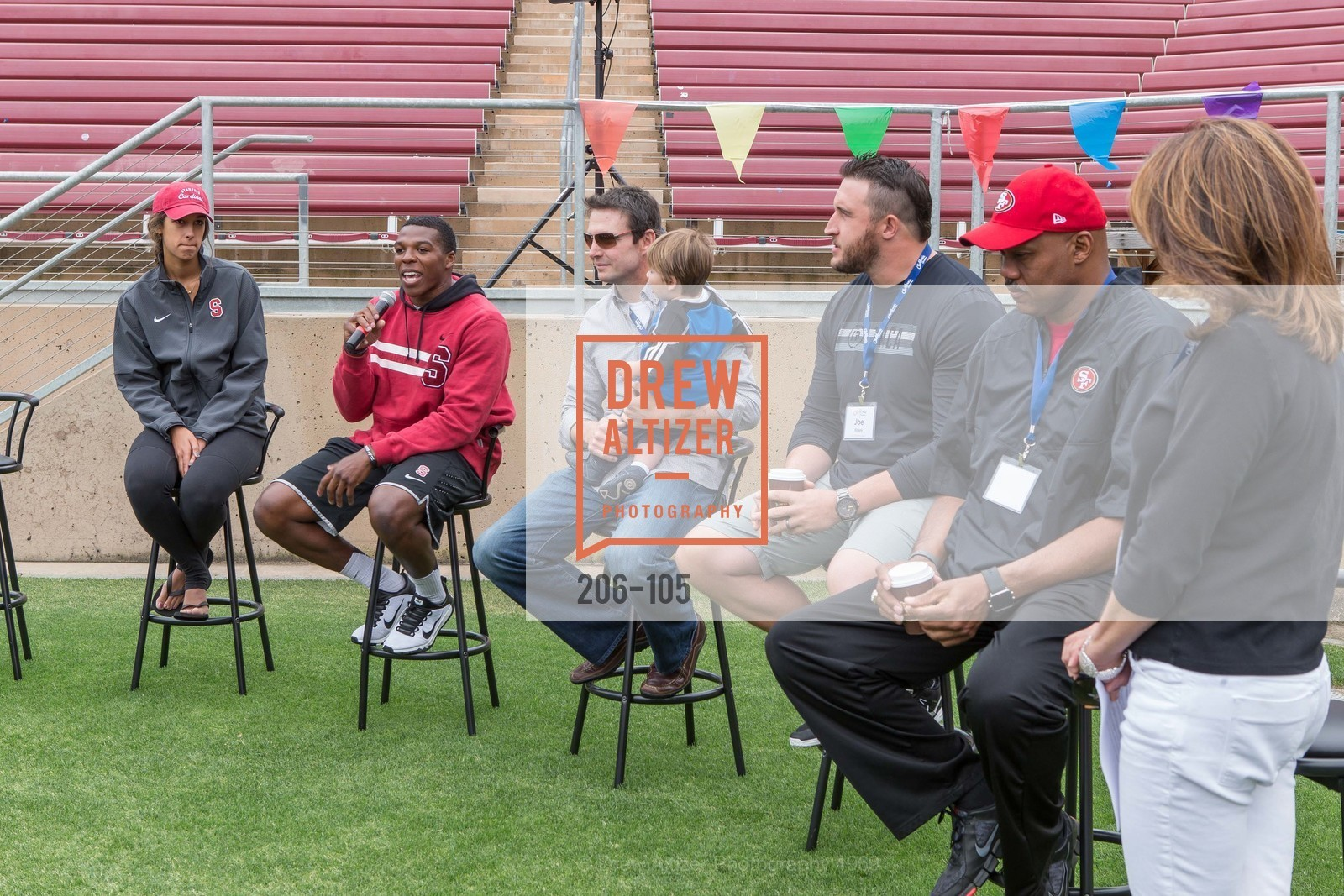 Kailee Johnson, Jordan Richards, Joe Cannon, Joe Staley, Dennis Brown, Mindi Bach, Children's Champions, Stanford Stadium. 	601 Nelson Rd, May 16th, 2015,Drew Altizer, Drew Altizer Photography, full-service agency, private events, San Francisco photographer, photographer california