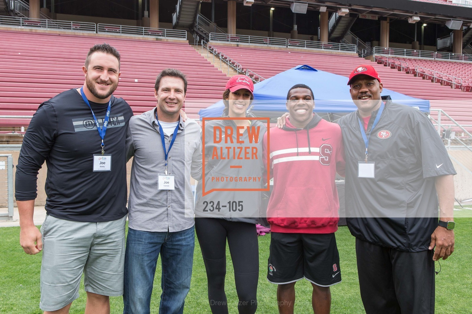 Joe Staley, Joe Cannon, Kailee Johnson, Jordan Richards, Dennis Brown, Children's Champions, Stanford Stadium. 	601 Nelson Rd, May 16th, 2015,Drew Altizer, Drew Altizer Photography, full-service agency, private events, San Francisco photographer, photographer california