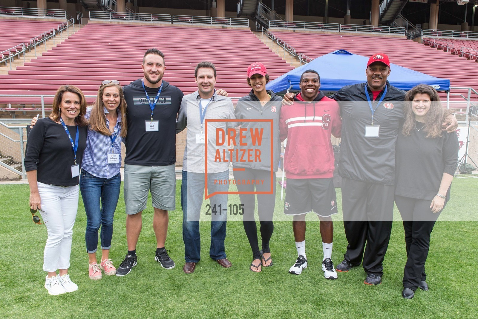 Mindi Bach, Ashley Riley, Joe Staley, Joe Cannon, Kailee Johnson, Jordan Richards, Dennis Brown, Amy Wender-Hoch, Children's Champions, Stanford Stadium. 	601 Nelson Rd, May 16th, 2015,Drew Altizer, Drew Altizer Photography, full-service agency, private events, San Francisco photographer, photographer california