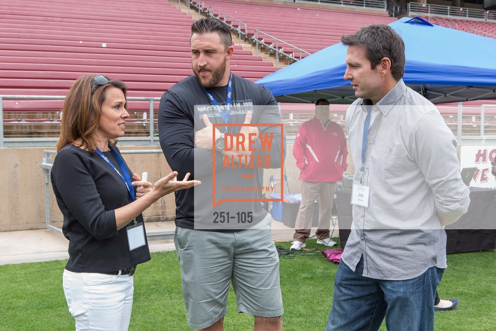 Mindi Bach, Joe Staley, Joe Cannon, Children's Champions, Stanford Stadium. 	601 Nelson Rd, May 16th, 2015,Drew Altizer, Drew Altizer Photography, full-service agency, private events, San Francisco photographer, photographer california