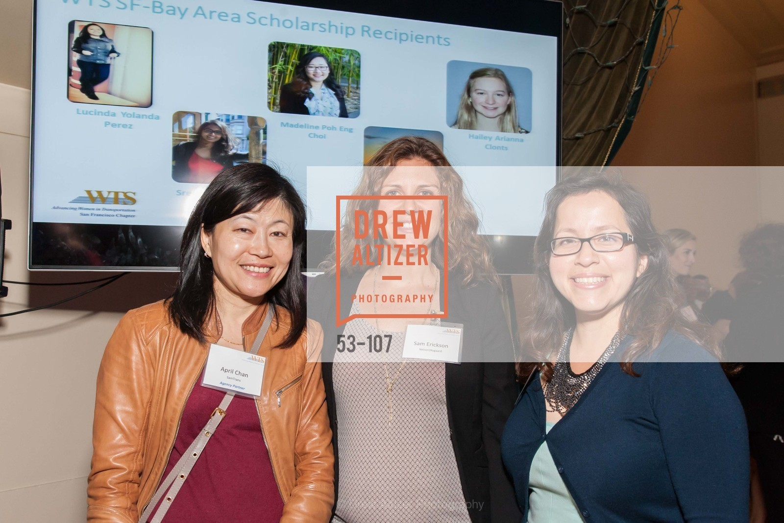 April Chan, Sam Erickson, Teresa Tapia,  Women's Transportation Seminar  SF Bay Chapter  Annual Scholarship and Awards , 1547 Lakeside Drive, May 13th, 2015,Drew Altizer, Drew Altizer Photography, full-service agency, private events, San Francisco photographer, photographer california