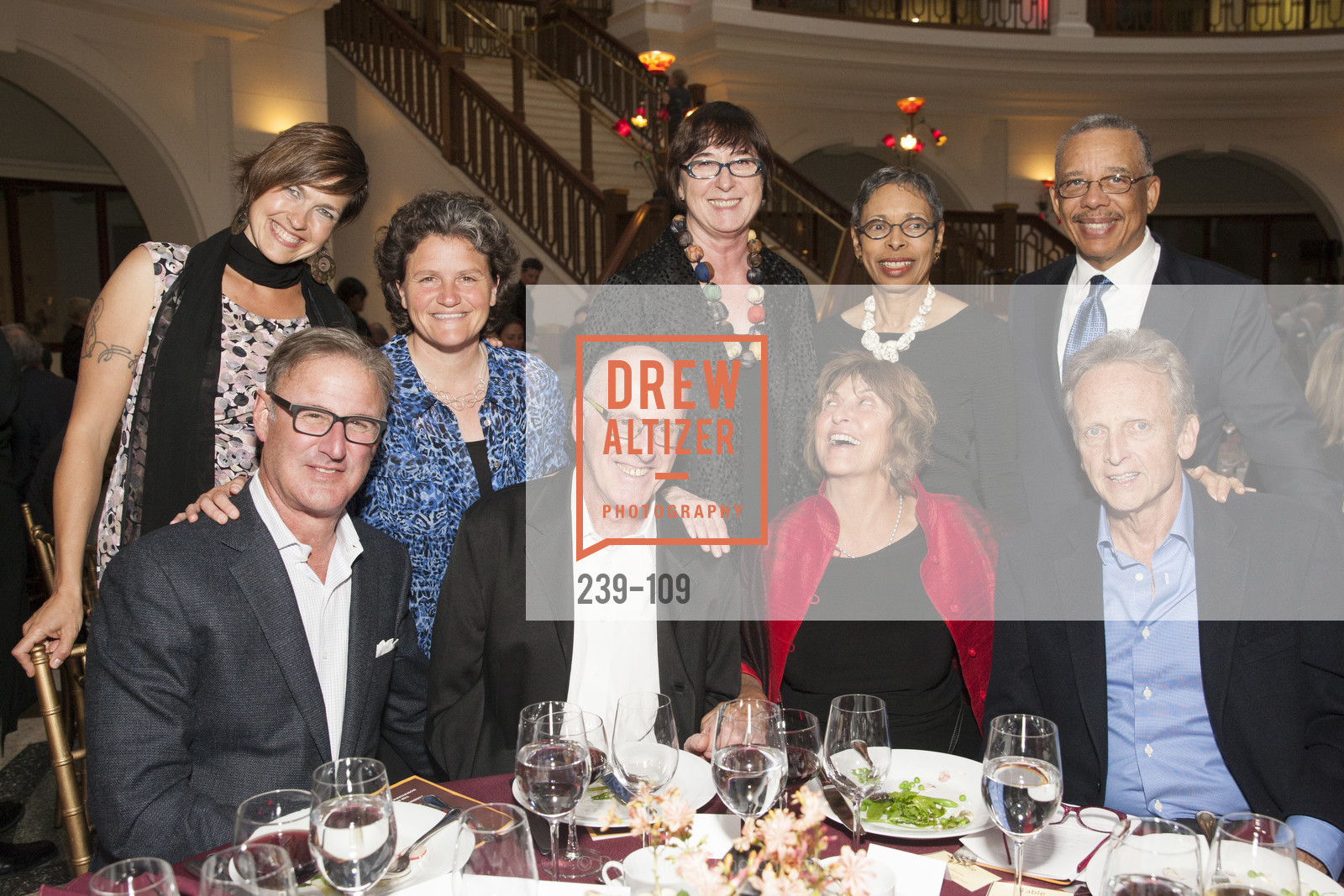 Larry Colton, Ralph Davis, Kathleen Burke, Leni Miller, Greta Clarke Wims, Warner Wims, Brian Welch, PANGAEA GLOBAL HEALTH Leadership Dinner at Rotunda in Oakland, The Rotunda. Oakland, May 11th, 2015,Drew Altizer, Drew Altizer Photography, full-service agency, private events, San Francisco photographer, photographer california