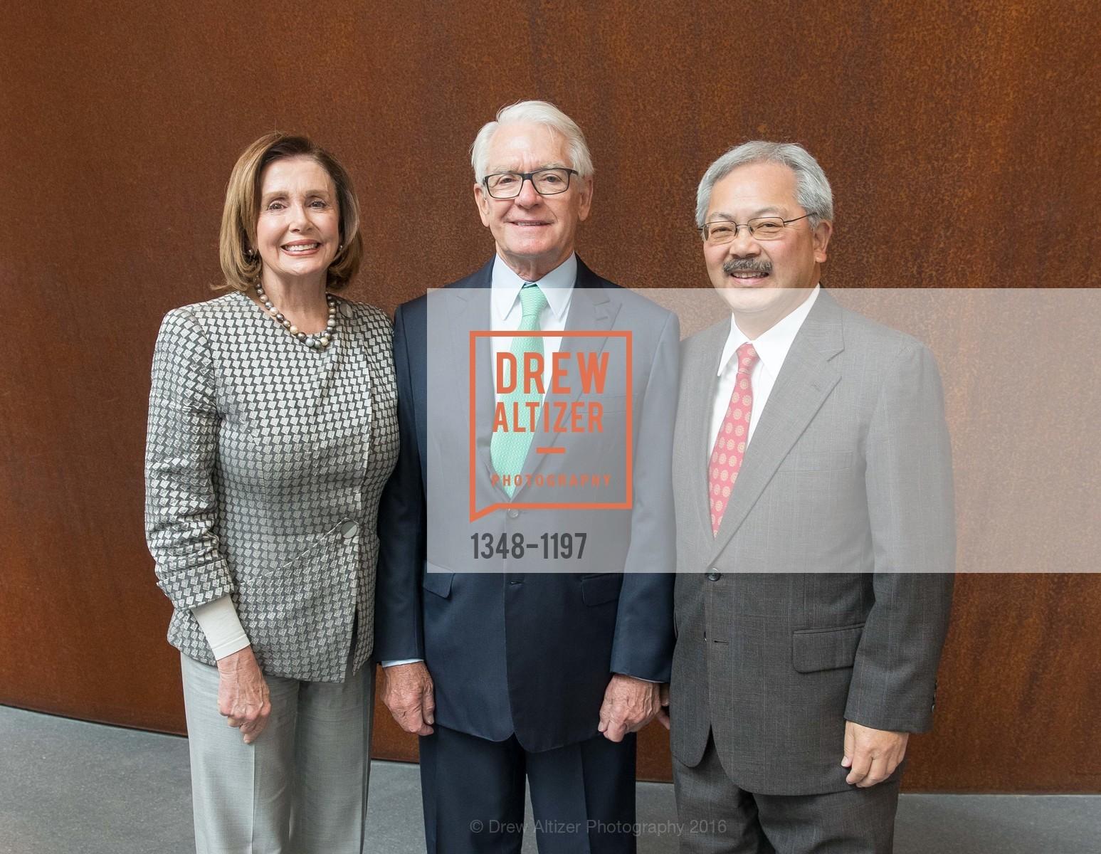 Nancy Pelosi, Charles Schwab, Ed Lee, Photo #1348-1197