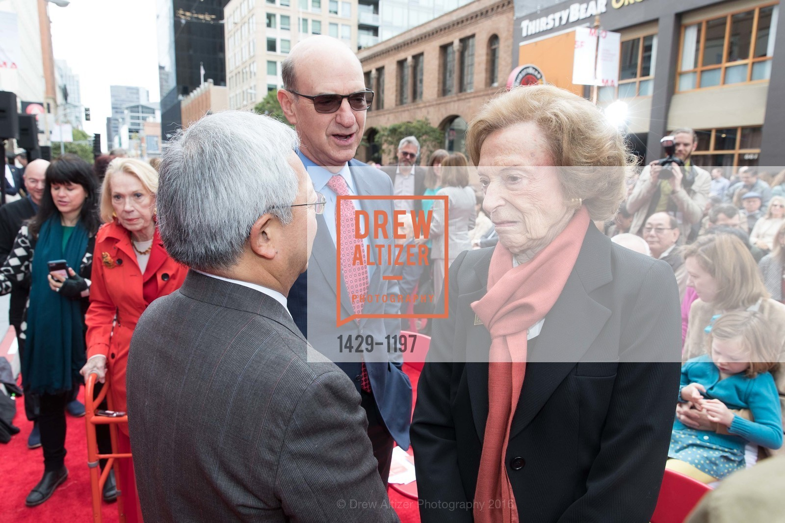 Ed Lee, Bob Fisher, Doris Fisher, Photo #1429-1197