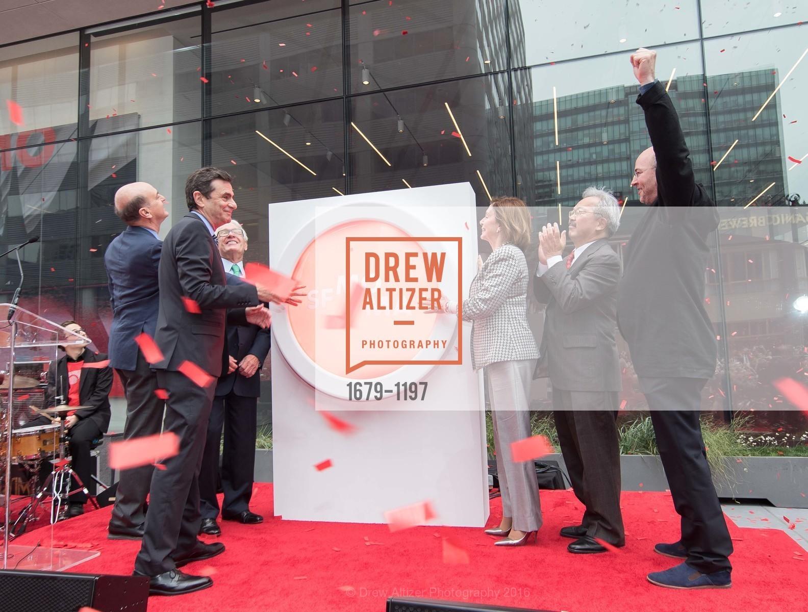 Bob Fisher, Neal Benezra, Nancy Pelosi, Ed Lee, Craig Dykers, Photo #1679-1197