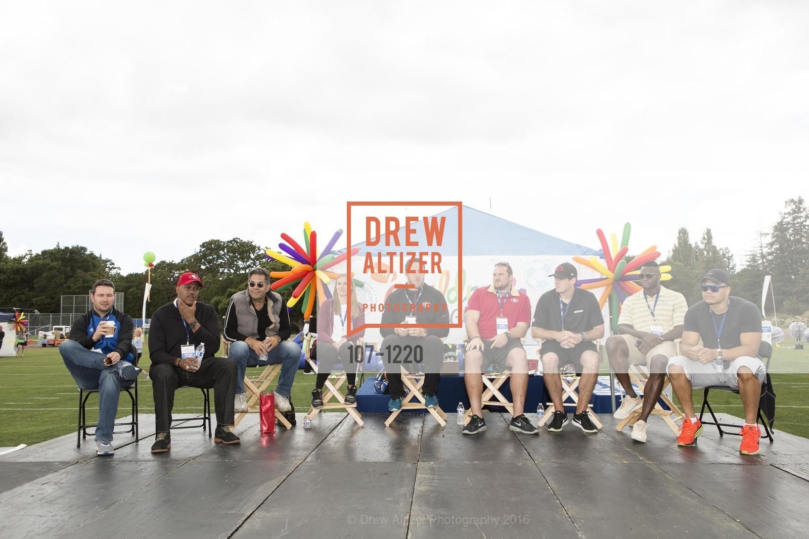 Joe Cannon, Dennis Brown, Carrie Drew, Joe Staley, Zane Beadles, Bradley Pinion, Latavius Murray, Brennan Scarlett, Photo #107-1220