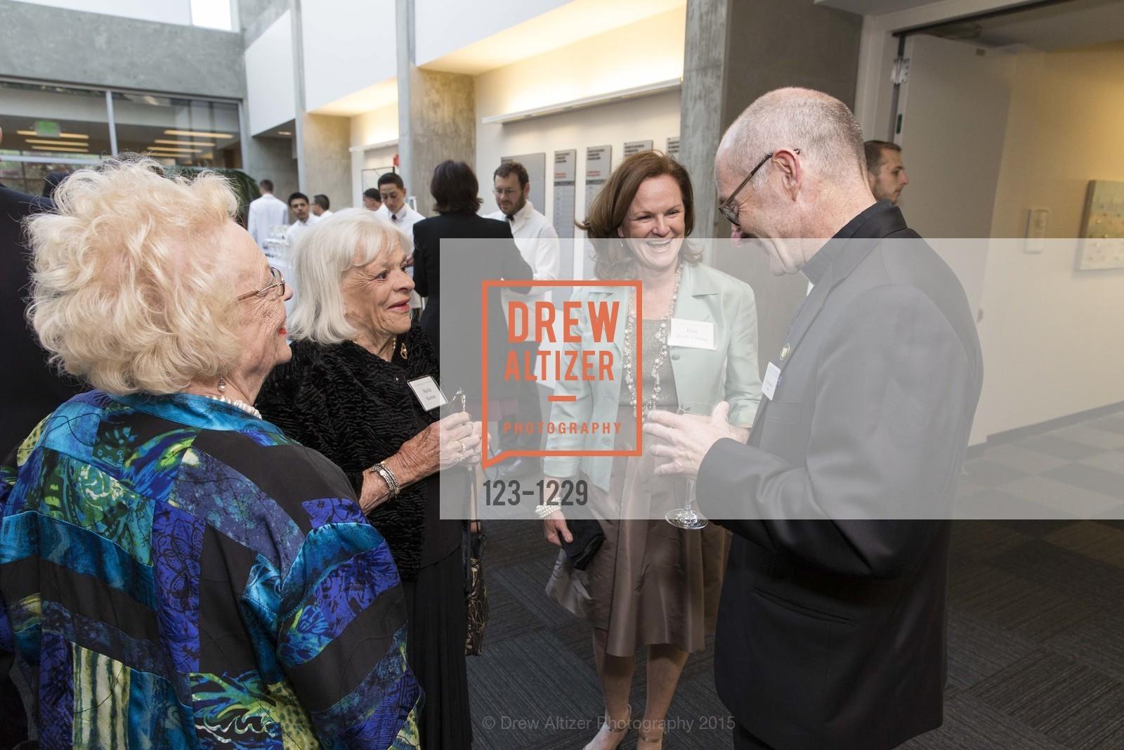 Brenda Jeffers, Sheila Kiernan, Erin Doyle Ebeling, Father Paul Fitzgerald, Photo #123-1229