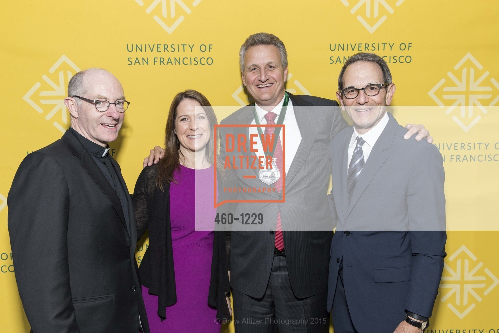 Father Paul Fitzgerald, Jennifer Kirschenbaum, Jeff Johnson, Ira Hirschbaum, Photo #460-1229