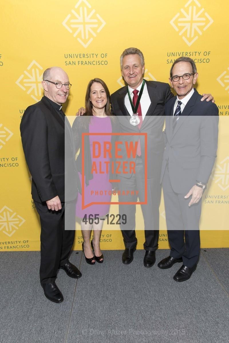 Father Paul Fitzgerald, Jennifer Kirschenbaum, Jeff Johnson, Ira Hirschbaum, Photo #465-1229