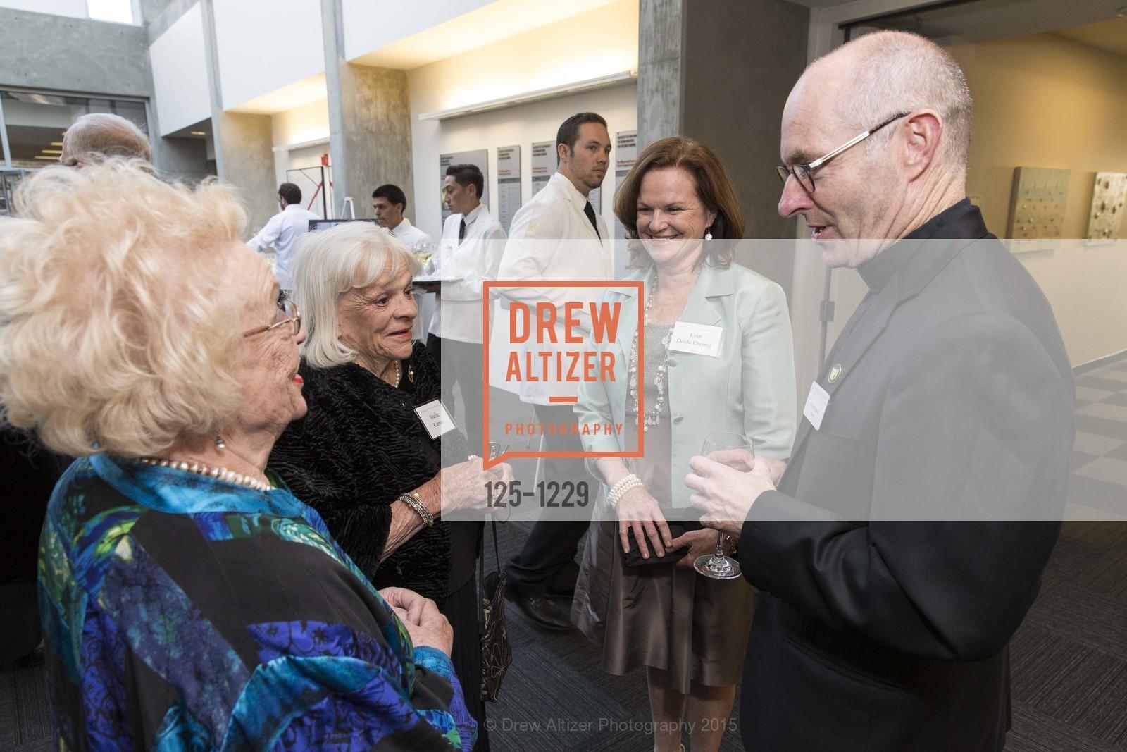 Brenda Jeffers, Sheila Kiernan, Erin Doyle Ebeling, Father Paul Fitzgerald, Photo #125-1229