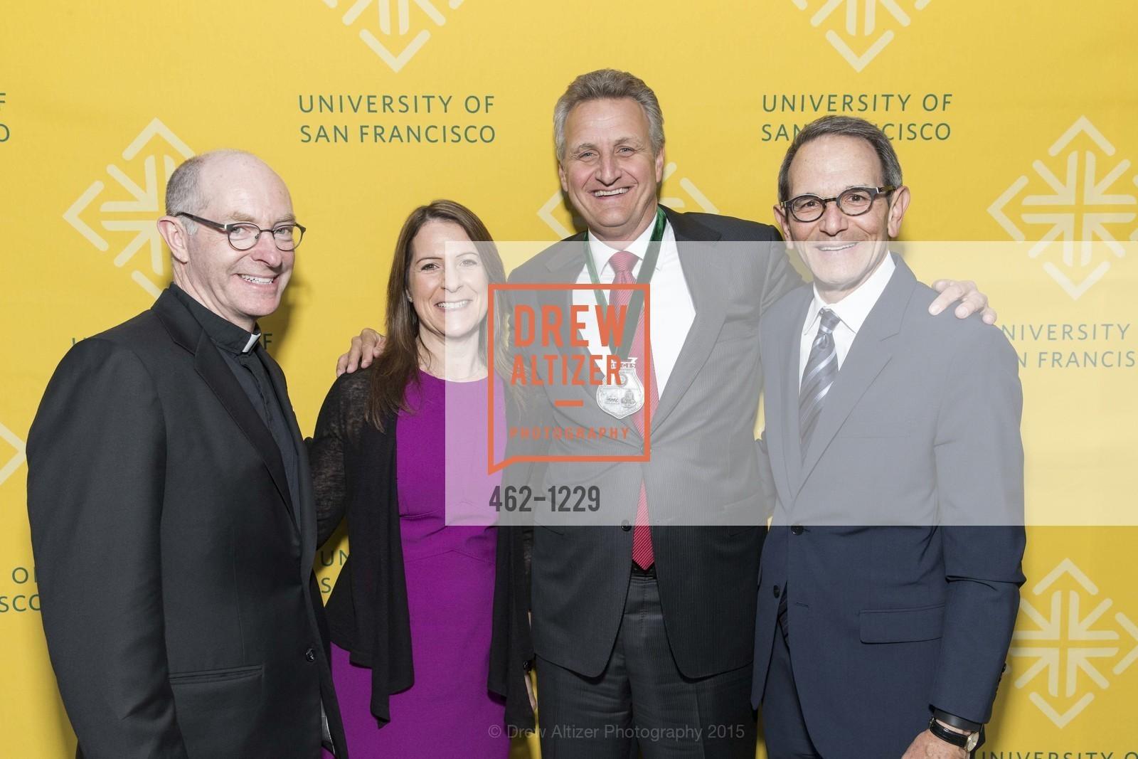 Father Paul Fitzgerald, Jennifer Kirschenbaum, Jeff Johnson, Ira Hirschbaum, Photo #462-1229