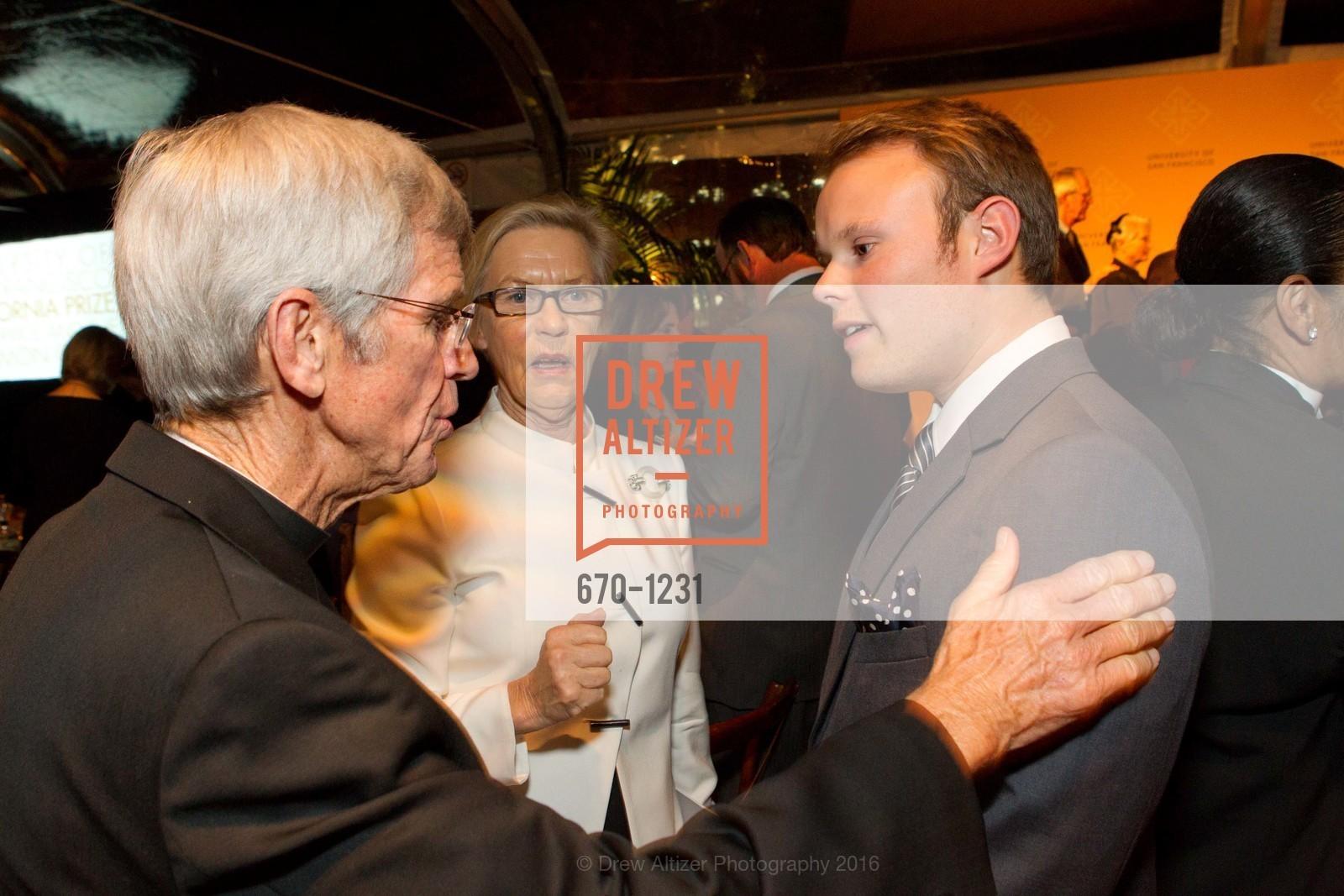Father Steve Privett, Barbro Osher, Morten Tastum, Photo #670-1231