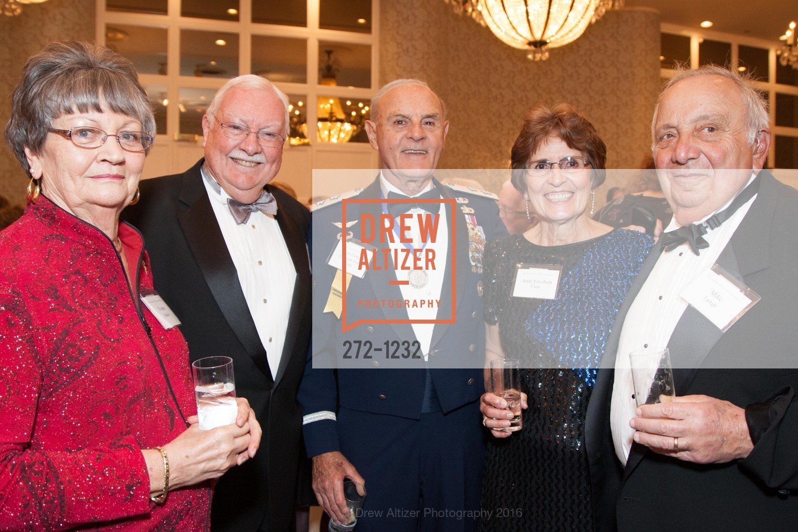 Yvonne Hanlon, Mike Hanlon, Major General Drennan Tony Clark, Elizabeth Clark, Mike Farrah, Photo #272-1232