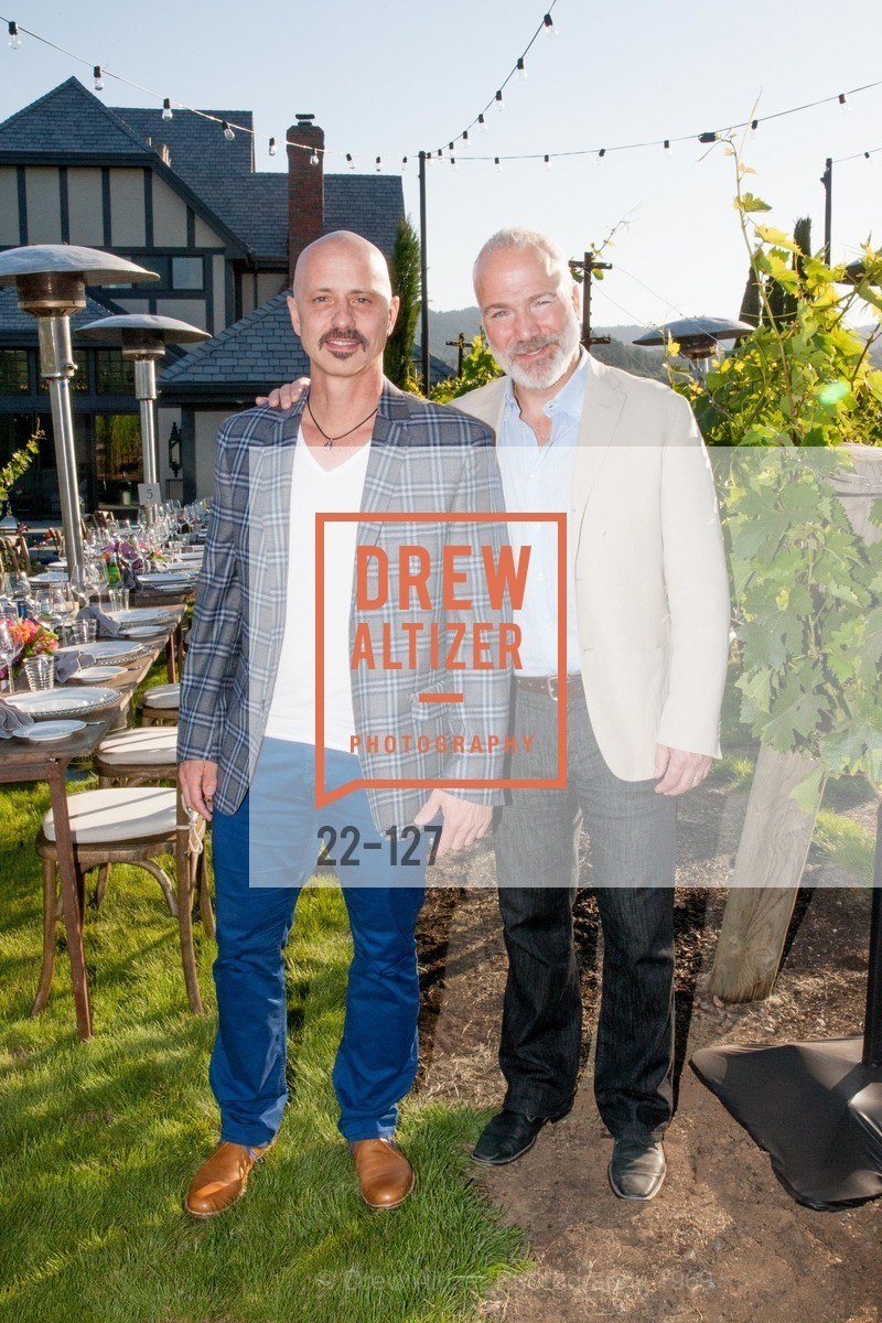 Brian Boitano, Franc D'Ambrosio, An Evening in the Vineyard hosted by JACK CALHOUN & TRENT NORRIS, Jack Calhoun & Trent Norris Vineyard. 3393 Dry Creek Road, Healdsburg CA 95448, May 22nd, 2015,Drew Altizer, Drew Altizer Photography, full-service agency, private events, San Francisco photographer, photographer california