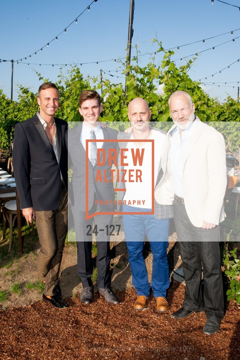 Ari Kofayan, Joe Adkins, Brian Boitano, Franc D'Ambrosio, An Evening in the Vineyard hosted by JACK CALHOUN & TRENT NORRIS, Jack Calhoun & Trent Norris Vineyard. 3393 Dry Creek Road, Healdsburg CA 95448, May 22nd, 2015,Drew Altizer, Drew Altizer Photography, full-service agency, private events, San Francisco photographer, photographer california