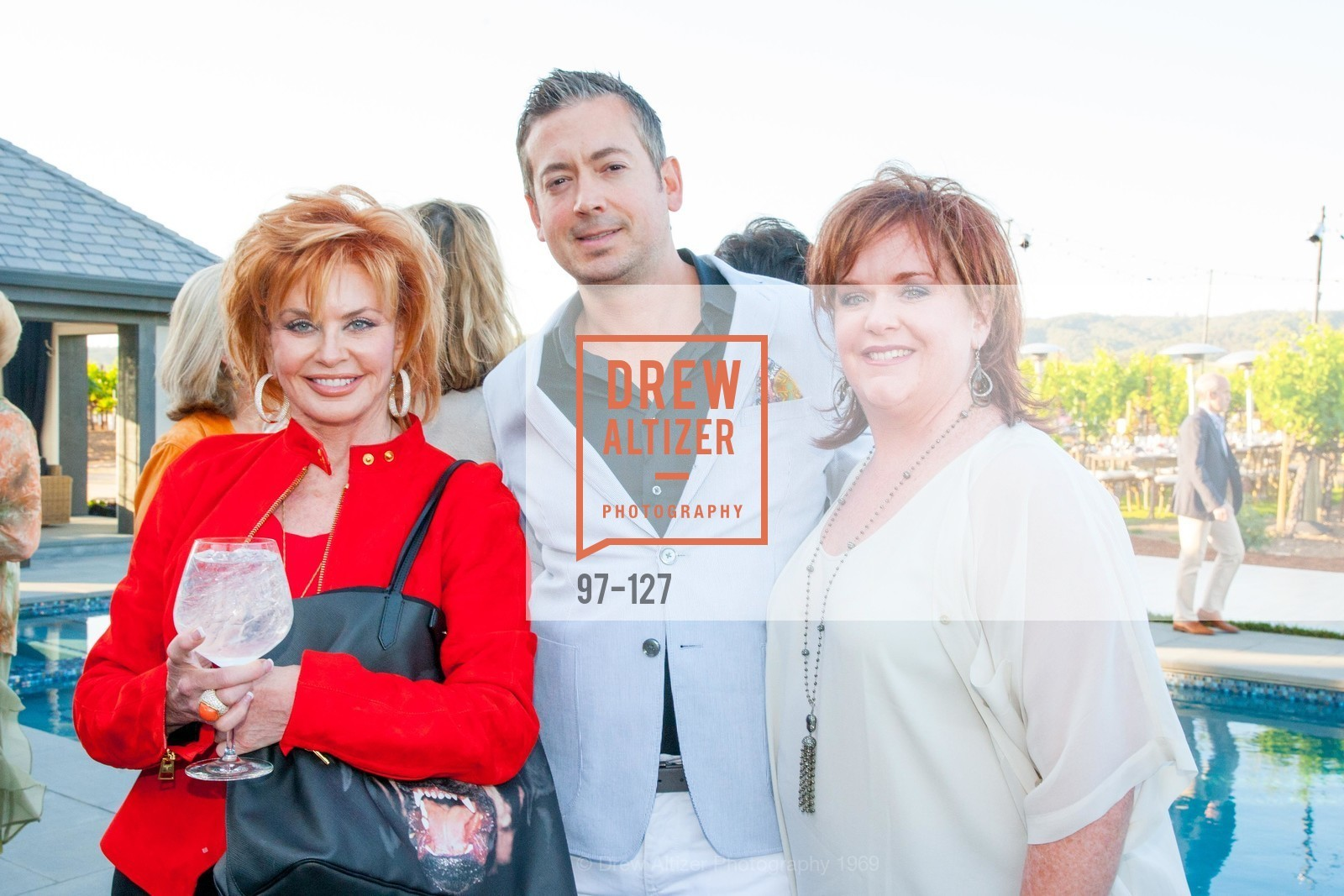 Vicky Walters, Chris Stubstad, Wendy Walters, An Evening in the Vineyard hosted by JACK CALHOUN & TRENT NORRIS, Jack Calhoun & Trent Norris Vineyard. 3393 Dry Creek Road, Healdsburg CA 95448, May 22nd, 2015,Drew Altizer, Drew Altizer Photography, full-service agency, private events, San Francisco photographer, photographer california