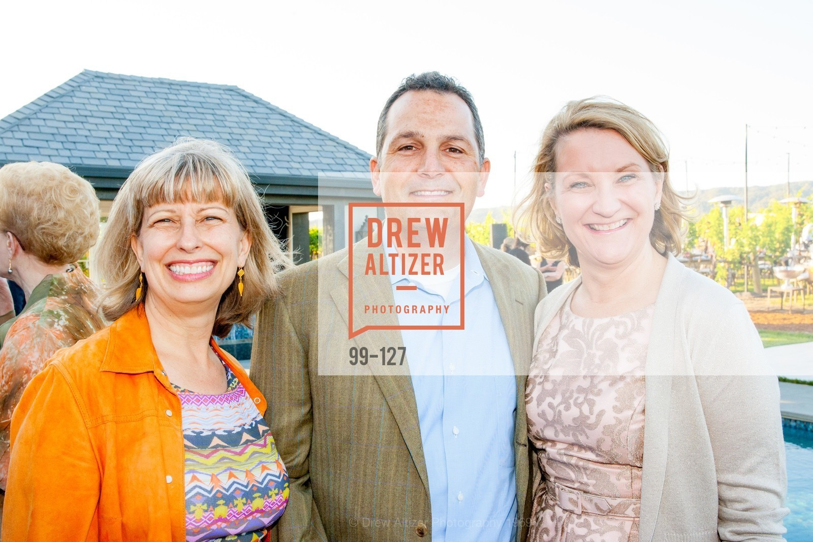 Linda Dujmovich, Craig Stevenson, Ann von Germeten, An Evening in the Vineyard hosted by JACK CALHOUN & TRENT NORRIS, Jack Calhoun & Trent Norris Vineyard. 3393 Dry Creek Road, Healdsburg CA 95448, May 22nd, 2015,Drew Altizer, Drew Altizer Photography, full-service agency, private events, San Francisco photographer, photographer california