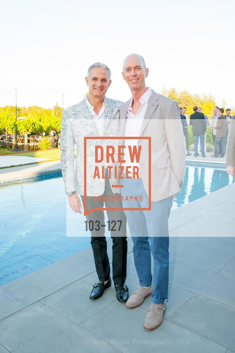 Nick Augustinos, Curt Kirschner, An Evening in the Vineyard hosted by JACK CALHOUN & TRENT NORRIS, Jack Calhoun & Trent Norris Vineyard. 3393 Dry Creek Road, Healdsburg CA 95448, May 22nd, 2015,Drew Altizer, Drew Altizer Photography, full-service agency, private events, San Francisco photographer, photographer california