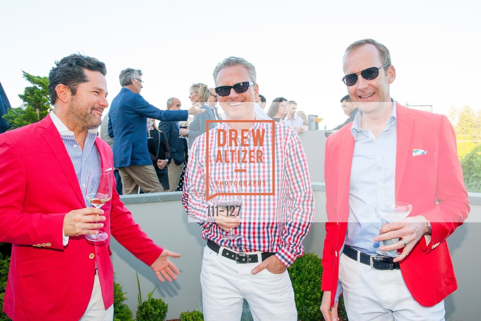 Warren Chase, Oliver Clode, James Schroeder, An Evening in the Vineyard hosted by JACK CALHOUN & TRENT NORRIS, Jack Calhoun & Trent Norris Vineyard. 3393 Dry Creek Road, Healdsburg CA 95448, May 22nd, 2015,Drew Altizer, Drew Altizer Photography, full-service agency, private events, San Francisco photographer, photographer california