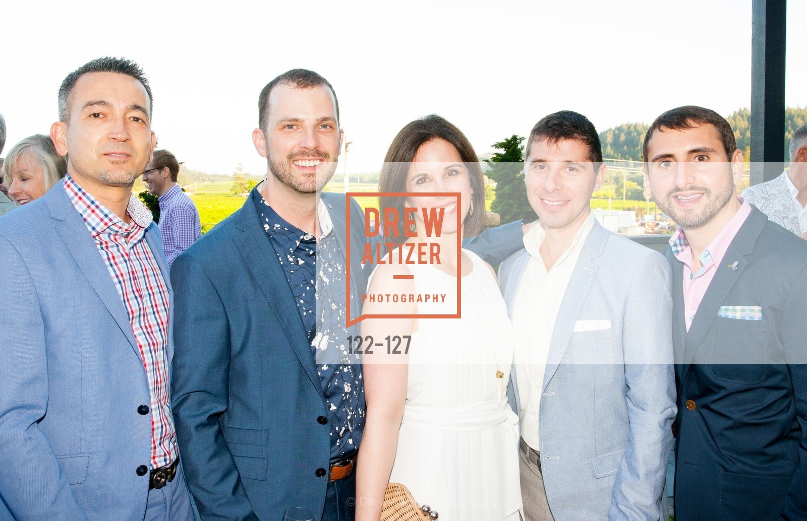 Chris Orsine, Thomas Magnani, Ellen Fleishhacker, Zack Allen, Cassio Alves, An Evening in the Vineyard hosted by JACK CALHOUN & TRENT NORRIS, Jack Calhoun & Trent Norris Vineyard. 3393 Dry Creek Road, Healdsburg CA 95448, May 22nd, 2015,Drew Altizer, Drew Altizer Photography, full-service agency, private events, San Francisco photographer, photographer california