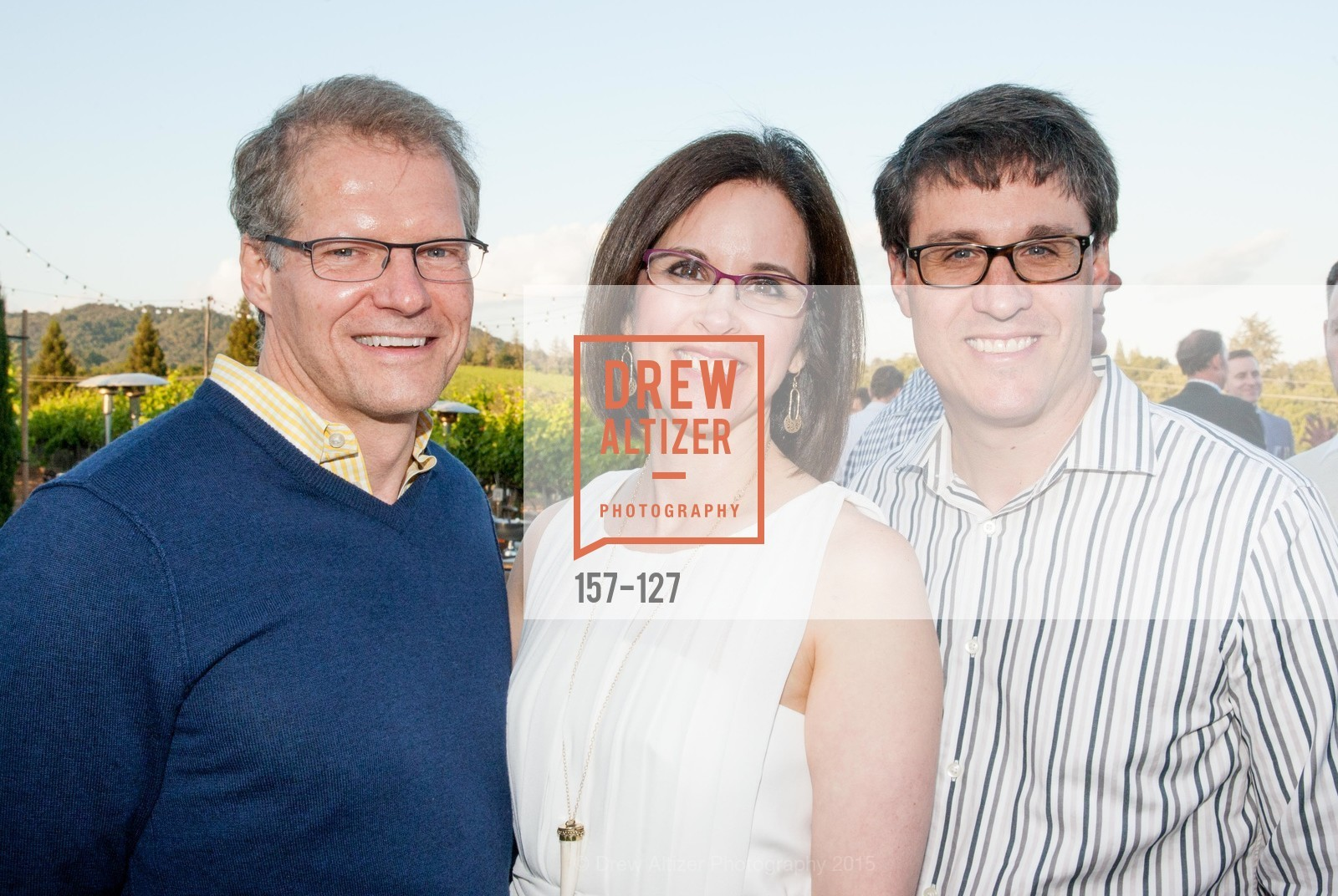 Bruce Deming, Ellen Fleishhacker, William Fleishhacker, An Evening in the Vineyard hosted by JACK CALHOUN & TRENT NORRIS, Jack Calhoun & Trent Norris Vineyard. 3393 Dry Creek Road, Healdsburg CA 95448, May 22nd, 2015,Drew Altizer, Drew Altizer Photography, full-service agency, private events, San Francisco photographer, photographer california