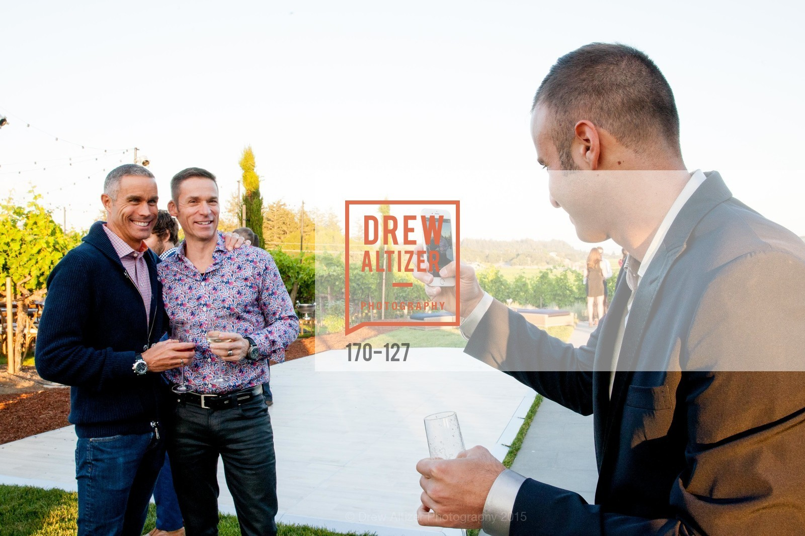 Dan Veach, Andres Wydler, Ari Kofayan, An Evening in the Vineyard hosted by JACK CALHOUN & TRENT NORRIS, Jack Calhoun & Trent Norris Vineyard. 3393 Dry Creek Road, Healdsburg CA 95448, May 22nd, 2015,Drew Altizer, Drew Altizer Photography, full-service agency, private events, San Francisco photographer, photographer california