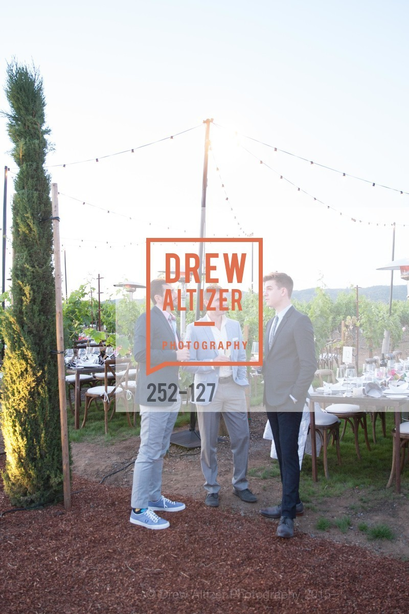 Cassio Alves, Zack Allen, Joe Adkins, An Evening in the Vineyard hosted by JACK CALHOUN & TRENT NORRIS, Jack Calhoun & Trent Norris Vineyard. 3393 Dry Creek Road, Healdsburg CA 95448, May 22nd, 2015,Drew Altizer, Drew Altizer Photography, full-service agency, private events, San Francisco photographer, photographer california