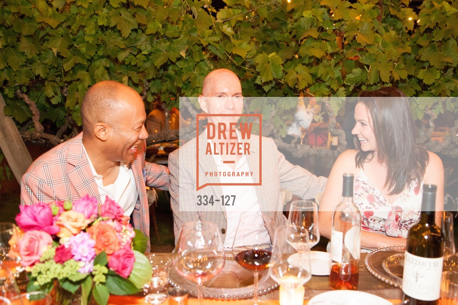 Ken McNeely, Curt Kirschner, Jennifer Jigalin, An Evening in the Vineyard hosted by JACK CALHOUN & TRENT NORRIS, Jack Calhoun & Trent Norris Vineyard. 3393 Dry Creek Road, Healdsburg CA 95448, May 22nd, 2015,Drew Altizer, Drew Altizer Photography, full-service agency, private events, San Francisco photographer, photographer california