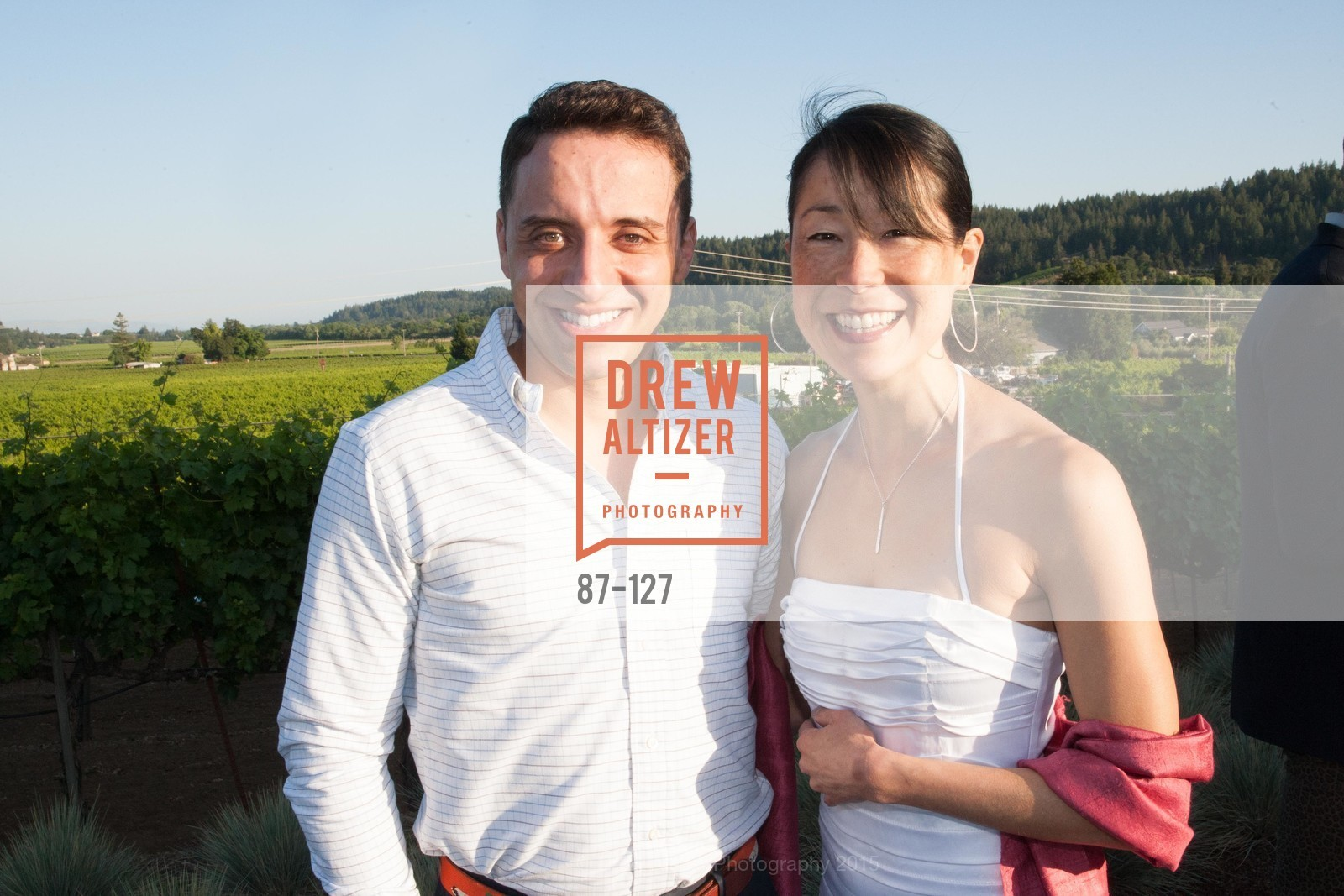 Brian Mehler, Mari Nobori, An Evening in the Vineyard hosted by JACK CALHOUN & TRENT NORRIS, Jack Calhoun & Trent Norris Vineyard. 3393 Dry Creek Road, Healdsburg CA 95448, May 22nd, 2015,Drew Altizer, Drew Altizer Photography, full-service agency, private events, San Francisco photographer, photographer california