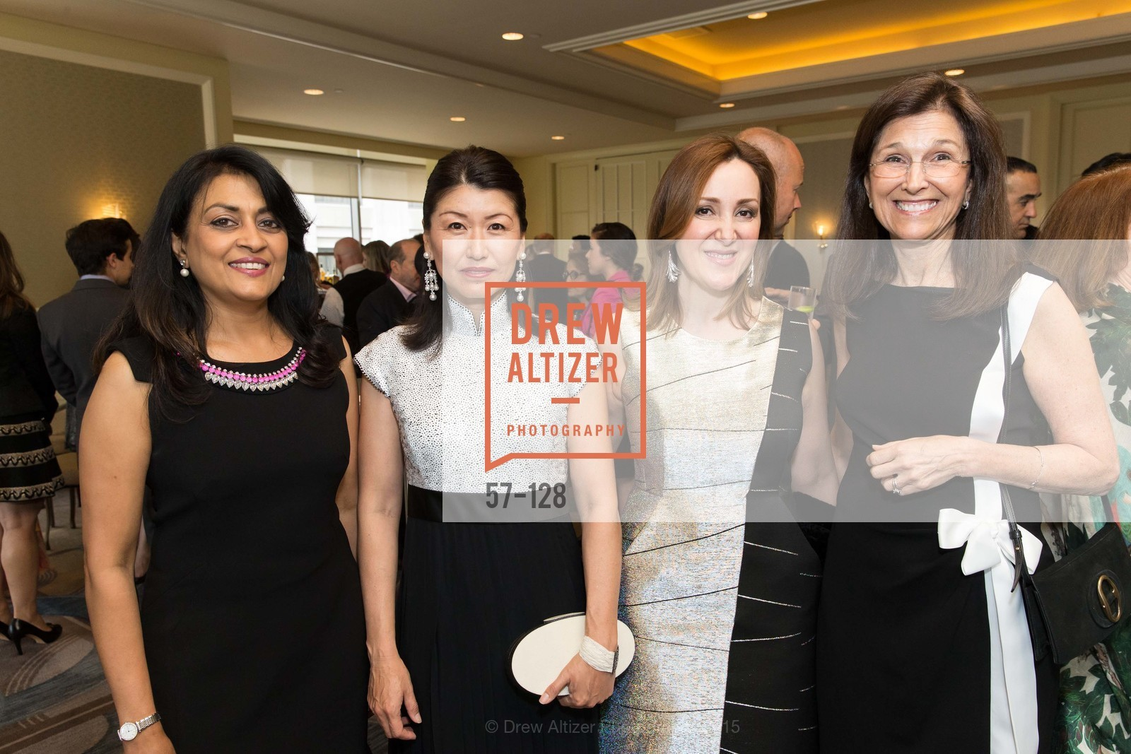 Lata Krishnan, Akiko Yamazaki, Noosheen Hashemi, Jane Wales, World Affairs Council Awards Dinner: Global Actors | Global Reach | Global Impact, Four Seasons San Francisco, May 25th, 2015,Drew Altizer, Drew Altizer Photography, full-service agency, private events, San Francisco photographer, photographer california