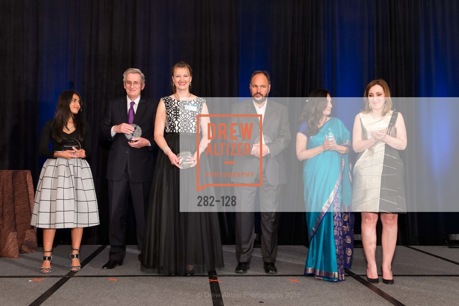 Ruzwana Bashir, Ruediger Naumann-Etienne, Petra Dierkes-Thrun, Paul Maritz, Padmasree Warrior, Noosheen Hashemi, World Affairs Council Awards Dinner: Global Actors | Global Reach | Global Impact, Four Seasons San Francisco, May 25th, 2015